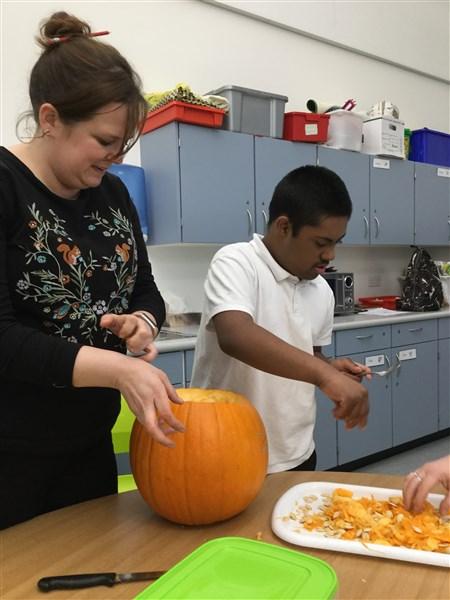 Room 18 Maximising their Pumpkin!