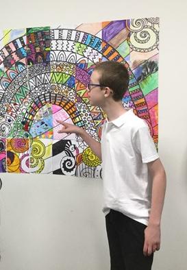 Collaborative Rainbow Art