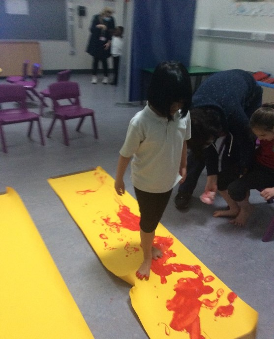 Foot Prints And Fun In Room 2